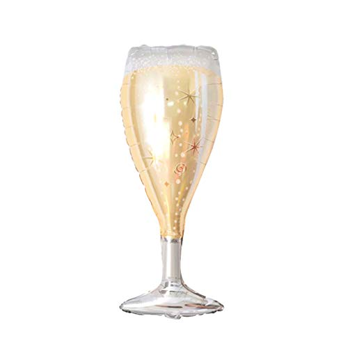 Ouniman Champagne Bottle Wine Goblet Glass Foil Balloons Whisky Cocktail Beer Balloons for Christmas Birthday Party Supplies and Any Memorial Day Celebration Party Favors