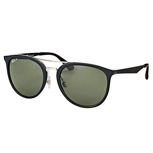 Ray-Ban RB4285 Square Sunglasses, Black/Polarized Green, 55 mm (Billige Rayban)