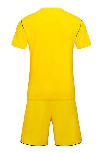 Uomo Della Bozevon Bambino Pantaloncini Sportivo Allenamento Giallo Set Squadra shirt Di Costume Calcio E Competizione Abbigliamento T tRwpdw
