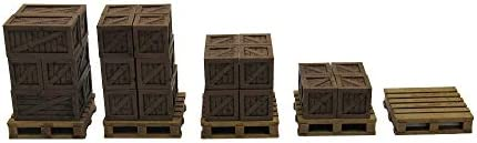 EnderToys Rustic Crates /& Pallets 3D Printed and Paintable Terrain Scenery for Tabletop 28mm Miniatures Wargame