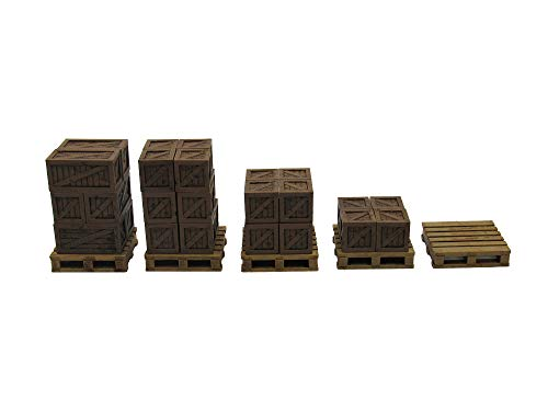 EnderToys Rustic Crates & Pallets, Terrain Scenery for Tabletop 28mm Miniatures Wargame, 3D Printed and Paintable from EnderToys