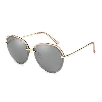 HLMMM Gafas de Sol Mujer Gafas de Sol polarizadas Anti-UV Glare UV400 Corea Retro