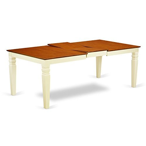 Cheap East West Furniture LGT-BMK-T Logan Dining Table In Butermilk & Cherry Finish