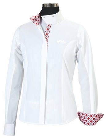 Cheap Equine Couture Ladies Jenna L/S Show Shirt 40 Whit