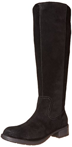 Clarks Women's Swansea Place Tall Boot - Black Suede - 8 ...