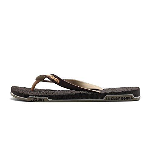 uomo 45EU alla Sandali shoes pantofola fino Marrone infradito con 40 uomo Dimensione Scarpe Color da classici EU taglia infradito Jiuyue da Marrone xv7w5Z8