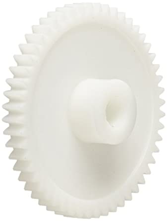 Smallparts Spur Gear, 20 Degree Pressure Angle, Polyoxymethylene, Inch, 24 Pitch