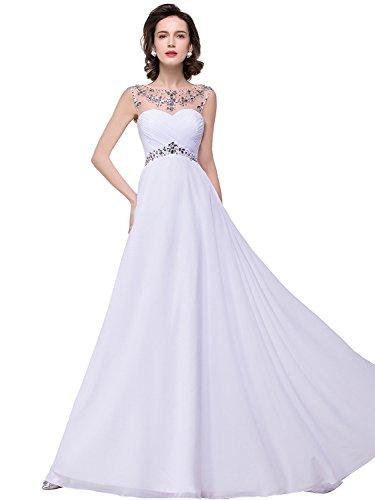 long white beaded dress - 2