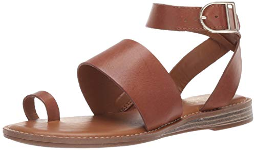 Franco Sarto Women's Gracious Flat Sandal, Light Brown, 10 M US ()