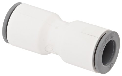 Legris 6306 62 00WP2 LIQUIfit Push-to-Connect Fitting, Inline Union, 1/2
