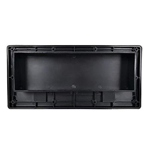 RecPro RV Range Vent Exterior Cover with Locking Damper Black