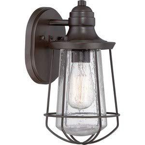 Quoizel MRE8406WT Marine Vintage Industrial Outdoor Lantern Wall Sconce, 1-Light, 100 Watts, Western Bronze (11