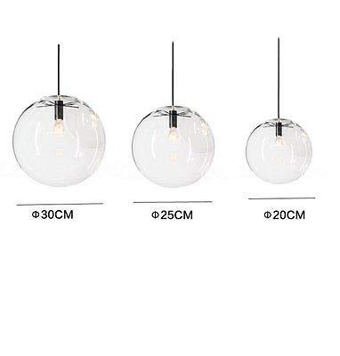 FidgetGear E27 Vintage LED Pendant Light Ceiling Lamp Transparent Glass Chandelier by FidgetGear (Image #4)
