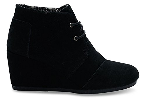 TOMS Women's Black Suede Desert Wedges 10006248