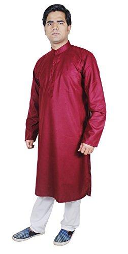 mens-clothing-fashion-outfits-kurta-pajama-pants-ethnic-clothing-maroon-size-l