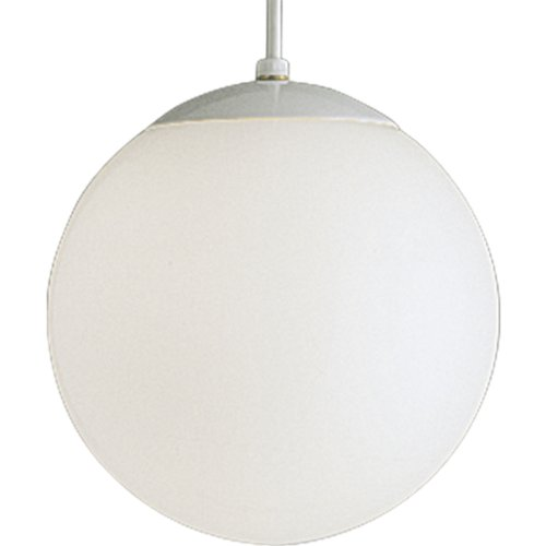- Progress Lighting P4402-29 Opal Cased Globes Provide Evenly Diffused Illumination White Cord, Canopy and Cap, Satin White
