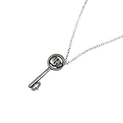Amazon skeleton key pendant necklace once upon a time the skeleton key pendant necklace once upon a time the evil queen regina mills silver aloadofball Images