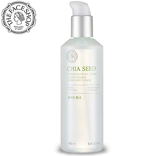 [THEFACESHOP] Chia Seed Hydrating Toner, Simple Skin Care For Normal To Oily Skin, Dermatologist Tested 145mL/4.9Oz ()