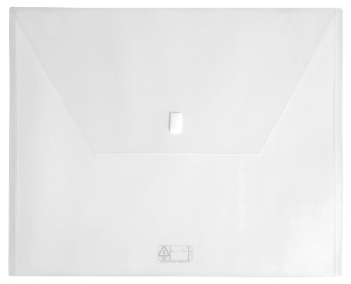 Lion Design-R-Line Poly Oversized Project Envelope, 14 x 17 Inches, Clear, 1 Envelope (60210-CR)
