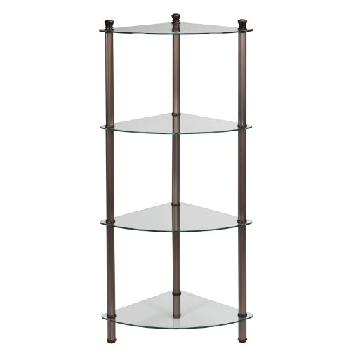 Creative Bath L'Etagere 4-Shelf Corner Tower, Oil-Rubbed Bronze Plate by Creative Bath