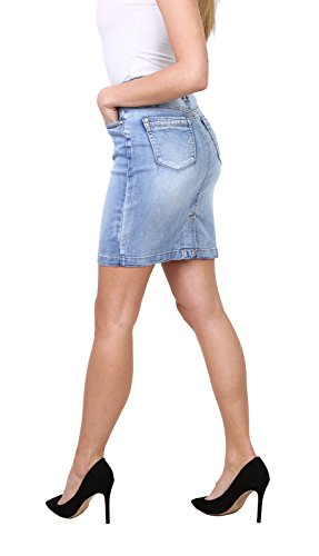 Courte Jupe Stretch Jupe 44 au Jupe Jeans Mini Jean en Crayon 36 Taille Casual Femme Onado 86aUxa