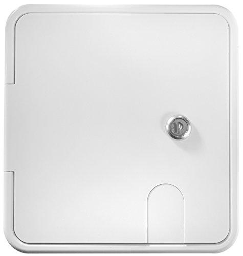 (RV Designer B152, Locking Electrical Cable Hatch, 8.5 inch x 8 inch x 1.5 inch, Polar White)