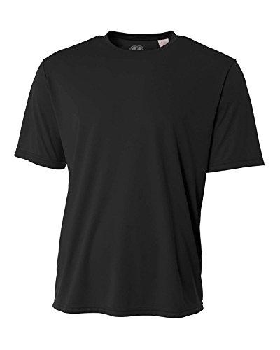 Black Loose Fit Shirt - Mens Rash Guard Surf Swimwear Swim Shirt SPF Sun Protection Loose Fit Fitting Black