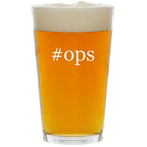 #ops - Glass Hashtag 16oz Beer Pint
