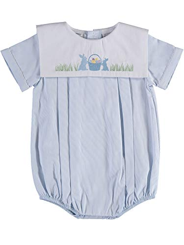 Carriage Boutique Baby Boy Easter Bubble - Blue with Bunny and Easter Eggs