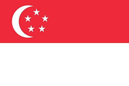 Singapore Flag from SoCal Flags® 3x5 Foot Polyester Singapore National Flag - High Quality Weather Resistant Durable - 100d Material Not See Thru Like Other - Singapore Brands