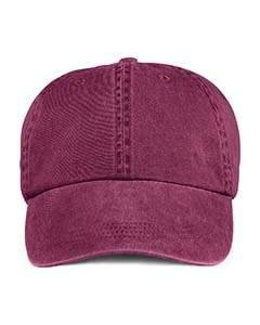 Anvil 145 6-Panel Pigment-Dyed Cap - Raspberry - One Size