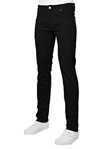 Victorious Mens Color Skinny Jeans (32/32, Black)