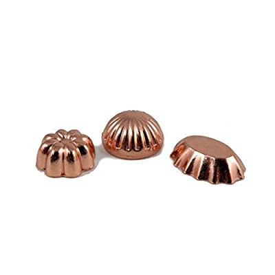 Melody Jane Dollhouse Set of 3 Copper Jelly Moulds Miniature 1:12 Kitchen Accessory: Toys & Games