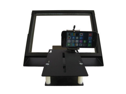 iPad iPad2 iPad3 iPad4 iPad Mini Teleprompter R810-10 with Beam Splitter Glass + Bracket to use iPhone Camera by InteractMedia