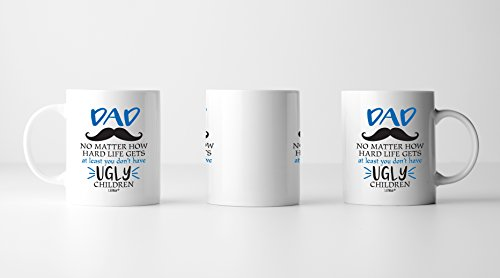 Gifts For Dad From Daughter Son Christmas Gift Birthday First Mug Cool Happy Funny Coffee Mugs Father Dads Daddy Stepdad Stepfather Bonus Step