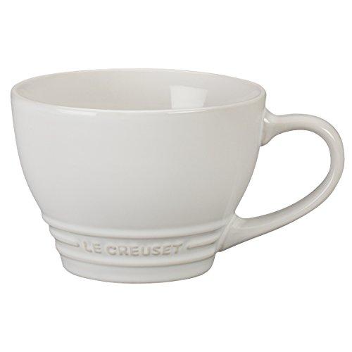 Le Creuset Stoneware Bistro Mug, 14 oz, White (14 Ounce Bistro Mug)