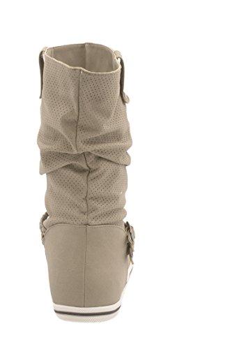 Elara - Botas Chelsea Mujer Beige 2