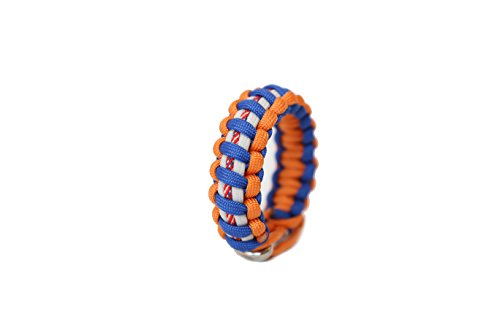 TRU550 New York Mets Baseball Team Colored Paracord Survival Bracelets Mens Jewelry