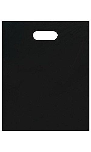 Medium Low Density Black Merchandise Bags - Case of 1,000 by STORE001