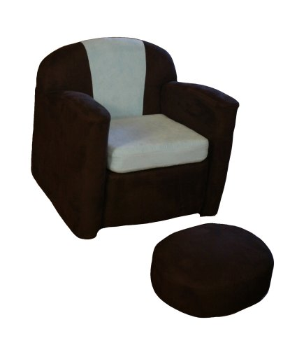 Cheap Chocolate Ultra-Suede Rocker and Ottoman
