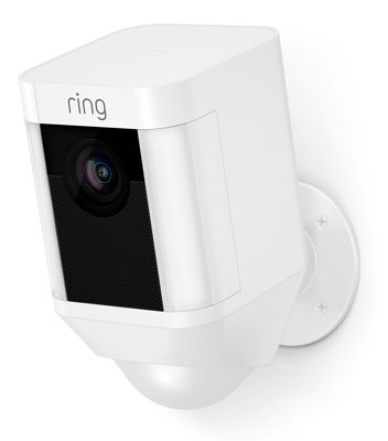 INC   Spotlight Security Camera, Battery Operated, White - Quantity 2 - Ring 8SB1S7-WEN0