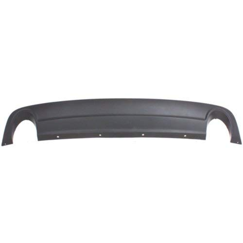 Garage-Pro Rear Valance for CHEVROLET MALIBU 2008-2012 Bumper Cover Extension Textured with Dual Exhaust Holes 3.6L Engine - CAPA