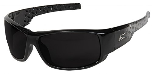 Edge Eyewear HZ116 Caraz Safety Glasses Black with Smoke Lens Edge Safety Eyewear