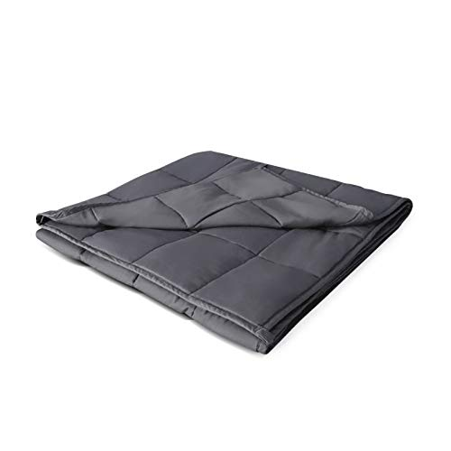 JANTODEC Adults Weighted Blanket 20 lbs(60''x80'', Grey, Queen Size), Cooling Weighted Blanket for Adults 180-220 lbs, Premium Cotton with Glass Beads