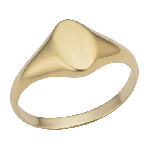 - 14k Yellow Gold 9.7mm Marquise Signet Ring (size 4)
