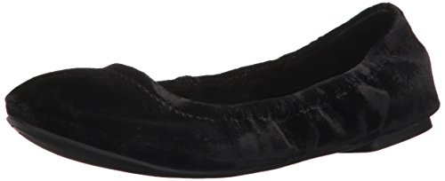 Lucky Brand Women's Emmie, Black Velvet, 6.5 Medium US (Velvet Shoe Ballet Black)