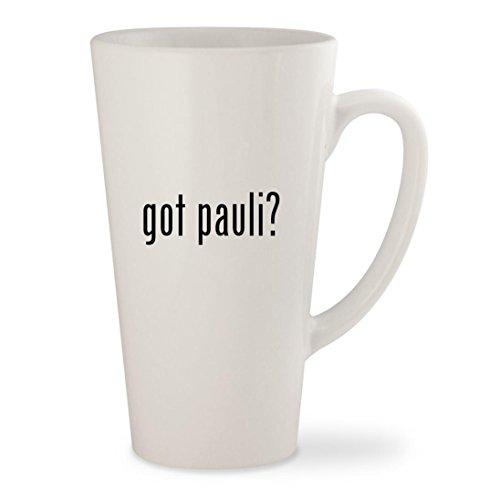 got pauli? - White 17oz Ceramic Latte Mug - New Dj Pauly D Hair