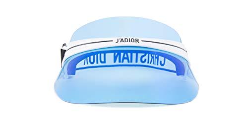 Dior DIORCLUB1 Visor White/Blue one Size fits All Unisex Sunglasses (Dior Christian Sunglasses Women)