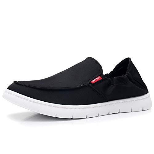 9f1473fc2b7 Hombre Eu Respirable Ligeros Blanda Antideslizante On Suela Zapatos 44  Negro Fuxitoggo Tamaño Negro Para color ...