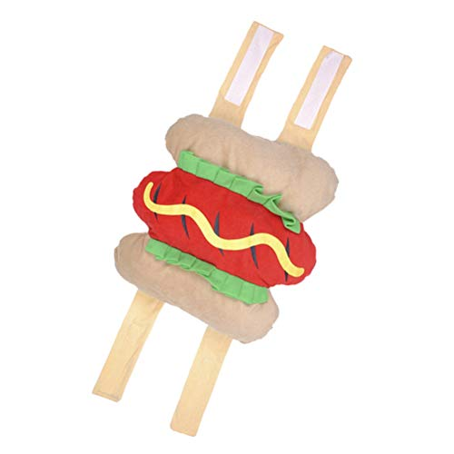 UEETEK Stylish Pet Halloween Costumes, Hot Dog Design Puppy Clothes Suit, Pet Dressing Up Party Apparel Cosplay - Size M